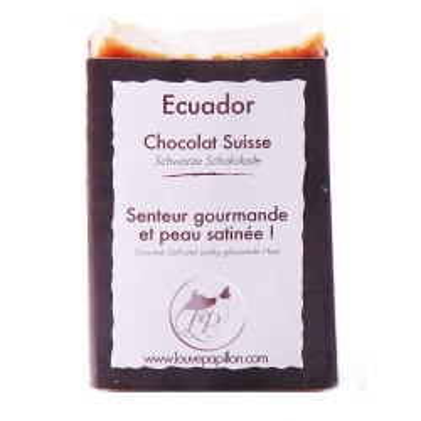 Savon au beurre de karité et chocolat Suisse