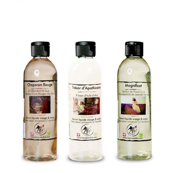 3 Savons liquides peau douce 250ml