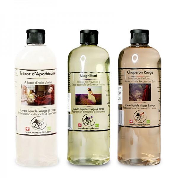 3 Savons liquides peau douce