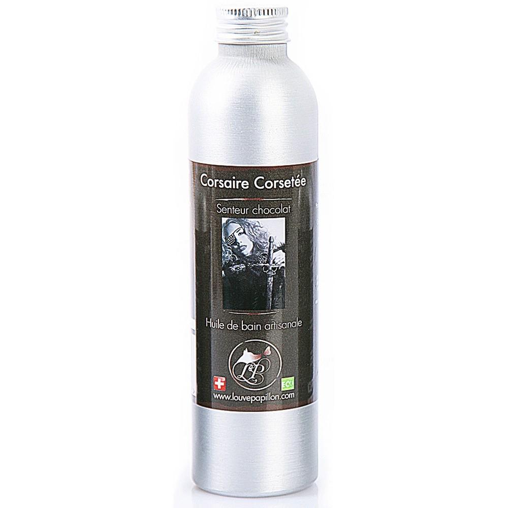 huile de bain naturelle fabriquée en suisse huile pour le bain bio au chocolat