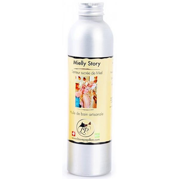 huile de bain naturelle au miel