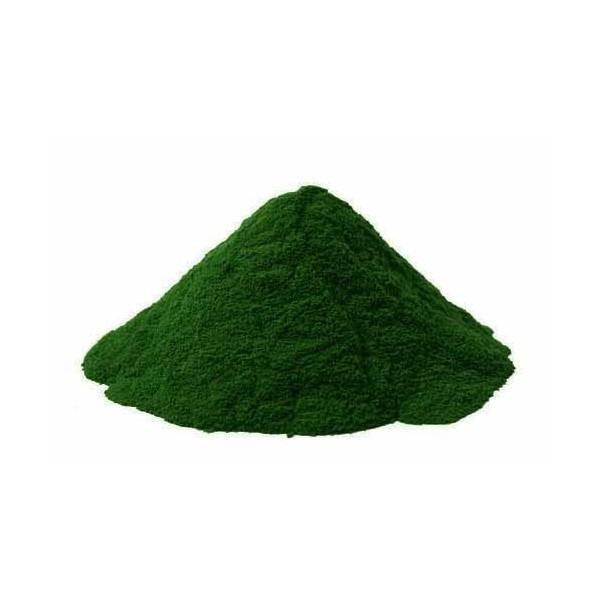 Pigments cosmétiques naturels verts sapin